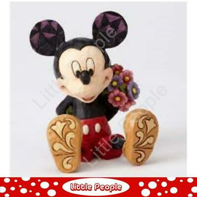 Jim Shore Mini Mickey with Flowers Figurine Disney Traditions