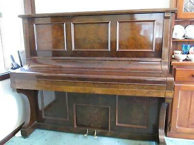 ZEITTER AND WINKELMANN walnut upright German made pianola type player piano 1928
