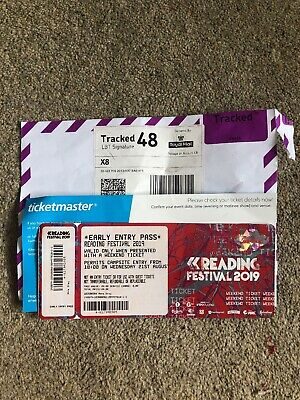 Reading Festival 2019 Early Entry Pass Only   Wednesday 21st August