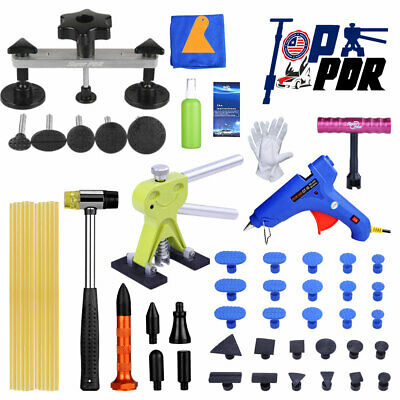 53pc PDR Paintless Hail Removal Car Dent Puller Lifter Repair Kit Bridge Tool US