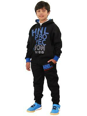 Boys Girls Tracksuit HNL Projection Print Royal Hoodie & Botom Jogging Suit 7-13