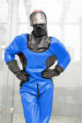 Latex Rubber Gummi Bodysuit Navy Blau Schwarz Kostüm Catsuit Suit Uniform S-XXL