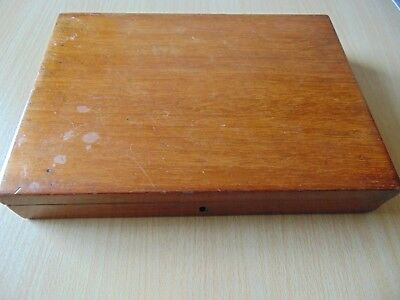 Antique Reeves & Sons London Watercolour Artists Paint Box 1860 Mahogany + Paint
