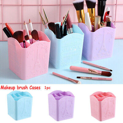Pen Holder 4 Compartments PP Organizer Desk Storage Box Cosmetic Eiffel Tower