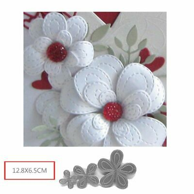 Flower Petal Cutting Dies Stencil Scrapbook Album Paper Card Embossing DIY Craft