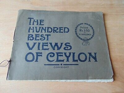 ANTIQUE PHOTO VIEW BOOK 19th century 100 BEST VIEWS OF CEYLON PLATE & CO