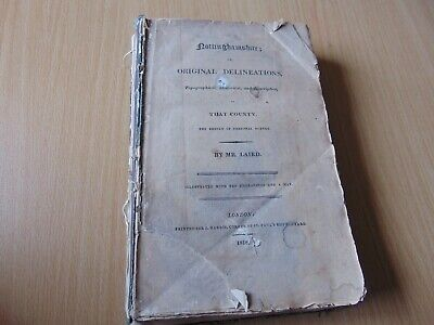 Scarce 1818 Local History Book Nottinghamshire Original Delineations