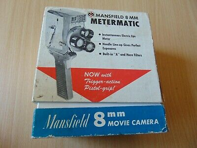 Boxed Mansfield Holiday 8mm vintage cine turret movie camera metermatic