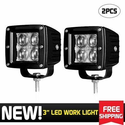 2X 3inch Spot Led Work Light Bars Backup Pods Offroad UTE Tractor 4X4 Cube 40W