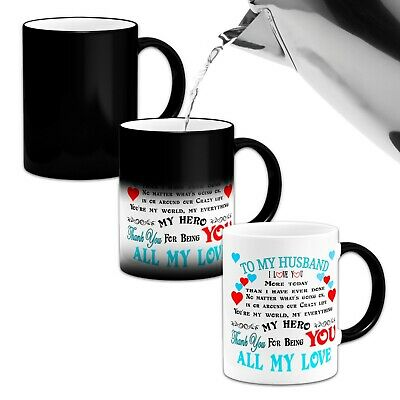 To My Husband I Love You More Today Than I.. Novelty Heat Colour Changing Mug
