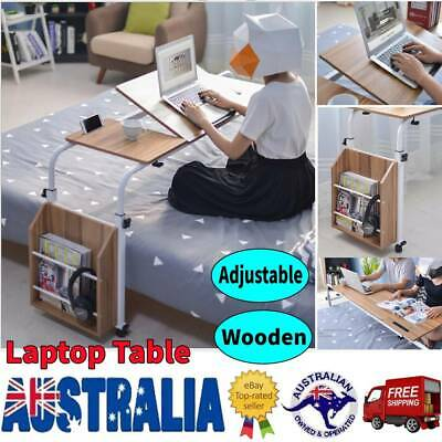 Adjustable Rolling Overbed Table Laptop Hospitable Bed Table with Drawing Board