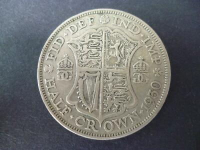 1930 George The 5Th Half Crown Fair Example. 50% Silver One Of The Scarcer Dates
