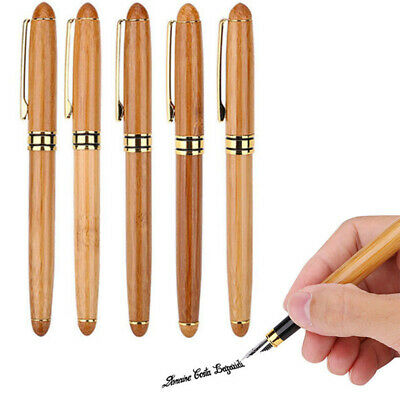 0.7mm-2.9mm Retro Antique Bamboo Wood Calligraphy Art Writing Fountain Pen Gifts