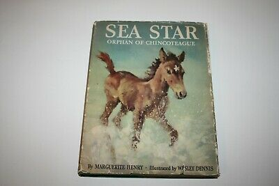 Sea Star Orphan Of Chincoteague, Marguerite Henry,1949/1st Ed/Author Signed