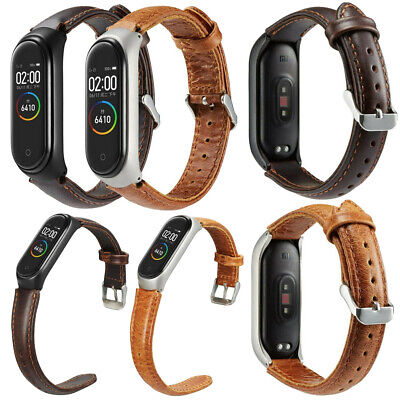 Replacement Leather Wristband Band Strap + Metal Case For Xiaomi Mi Band 4 2019