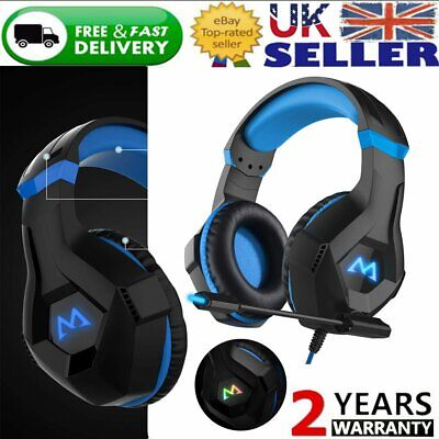 Mpow 3D Stereo Bass Surround Gaming Headset for PS4 Switch Xbox One PC w/ Mic UK