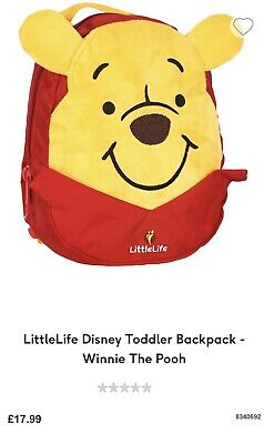 LittleLife Disney Winnie the Pooh Toddler Backpack with Rein