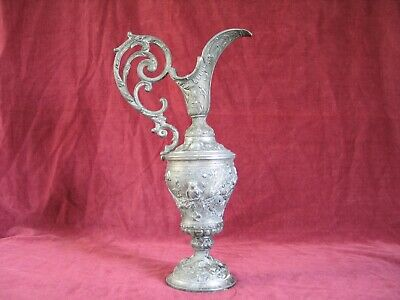 EWER/PITCHER Large Antique French Cast Spelter Ewer in very good condition