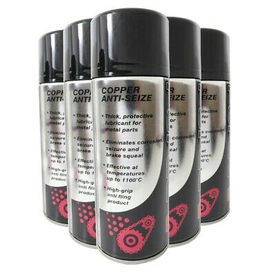 Copper Slip Anti Seize Spray Grease Stops Brake Squeal Professional (PACK OF 5)