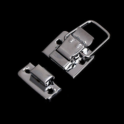 Silver Fastener Toggle Latch Catch Chest Case Suitcase Boxes Chests TrunkPM