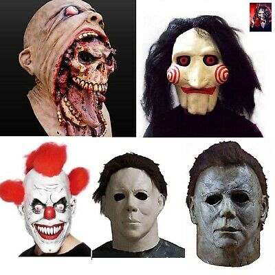 SCARY HALLOWEEN MASK Clown Evil Horror Zombie Cry Baby Saw Michael Myers Mask