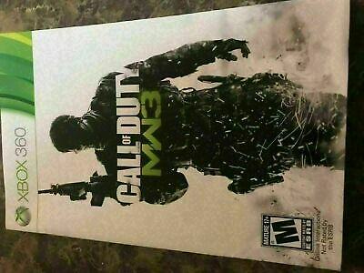 Call Of Duty Modern Warfare 3 - Xbox 360 - Instruction Manual Only