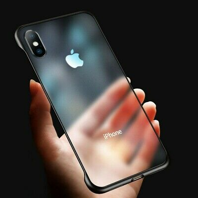 Ultra Thin Frameless Case For iPhone 6S 7 8 Plus XS Max Transparent Matte Cover