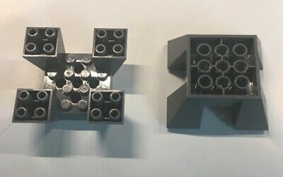 10131 LEGO 3 X Lot Dark Blue Gray Inverted Slope 65° 6x6x2 Quad Part 30373 8087