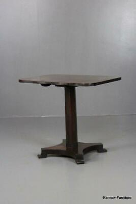 William IV Mahogany Side Occasional Lamp End Table