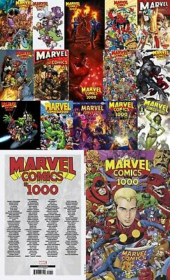 MARVEL #1000 Variants Alex Ross BROOKS Lim MIRACLEMAN Bagley SHIPS Fast now