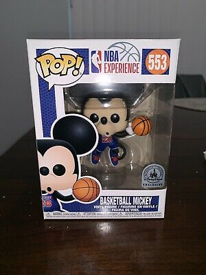 Disney NBA Experience Mickey Mouse Basketball 553 Pop Vinyl Figure Funko In Hand