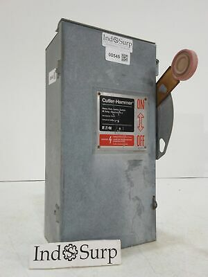 CH/EATON 60 Amp Disconnect 600 Volt 3 Pole 3 Wire