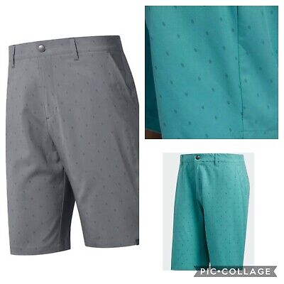 2018 Adidas Ultimate 365 pine cone print Mens Golf Shorts- Green- Multiple Sizes