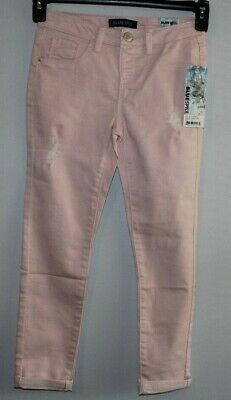 NWT KIDS Blue Spice ripped ankle jeans size 12 Tall color pixie pink