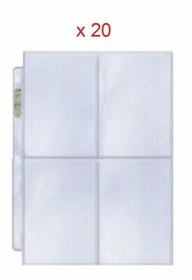 20 Leaves Ultra pro Platinum A4 in 4 Cases for Cards 88 x 133 mm 814182