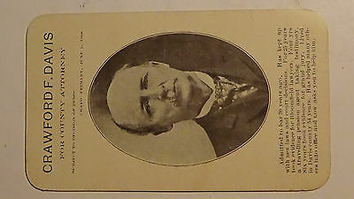 Rppc Postcard 1908   Crawford Davis  Running For Office   Town