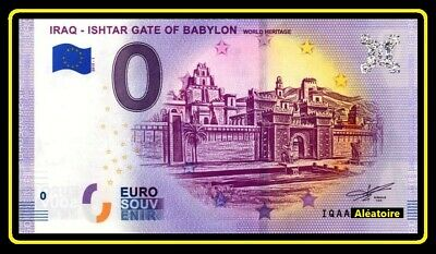 Billet Touristique Souvenir 0 euro - IRAQ - ISHTAR GATE OF BABYLON 2019