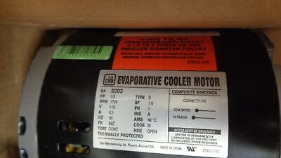 Dial 1/2HP Evaporative Cooler Motor 1 Speed 115V 2203