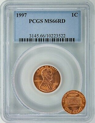 1997 Lincoln Memorial Cent - PCGS Certified RD-66