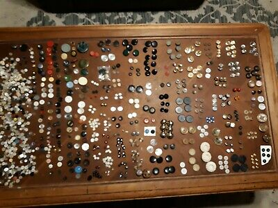 Old Vintage Buttons Sets &  Luse Pearl Shell Metal Bakelight Wood Plastic Shank