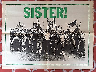 Very Rare!  Sisters United Poster from the 1970's