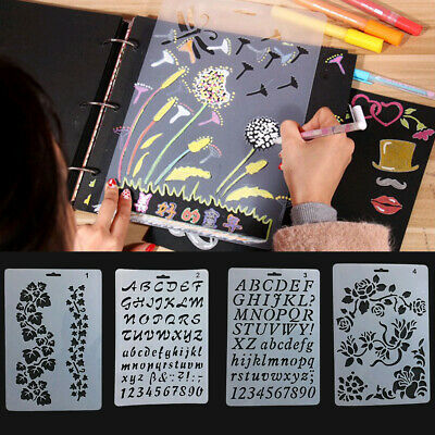 Letter Alphabet Number Layering Stencils Painting Paper Cards Craft 26.1*17.8cm