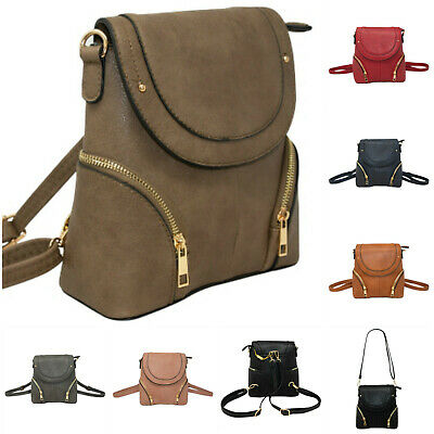 Ladies Mini Convertible Crossbody Backpack Girls Small Shoulder Travel Handbag