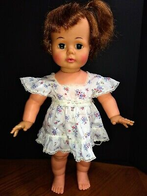 """Vintage 1960's Ideal Kissy 22"""" Baby Doll Kisses Works"""