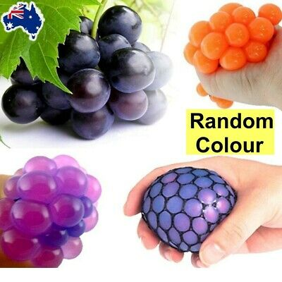AU Funny Toys Relief Stress Reliever Grape Ball Autism Mood Squeeze Healthy Toy