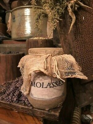 Primitive Pantry Jar MOLASSES Grubby Country Cupboard Tuck Early Look Homestead