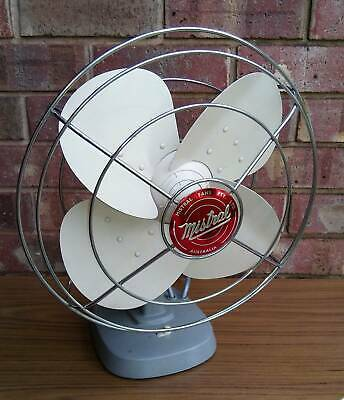 Vintage Mistral Metal Desk Fan - 1961
