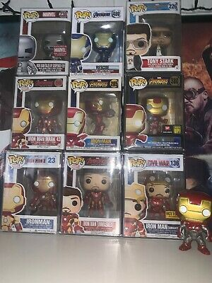 Iron Man Funko Pop Lot Rare Marvel Endgame Avengers Tony Stark