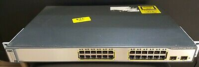CISCO 3750 24PSS WS-C3750-24PS-S 24 Ethernet POE Switch