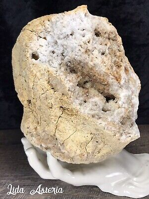 9.2Lb Large Whole Crystal Geode Smoky Citrine Iron Inclusions Kentucky Quartz